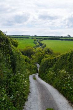 The road to Trevance, Cornwall, England. A classic British single track lane with, and sometimes without, passing places :) by deloris British Countryside, England And Scotland, England Ireland, Adventure Is Out There, Belle Photo, Beautiful Landscapes, The Great Outdoors, Places To See, Landscape Photography