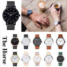 The Horse アナログ腕時計 ☆関税・送料込☆The Horse ORIGINAL 本革 ユニセックス School Looks, Who What Wear, Jewerly, Watches, Leather, Accessories, Minimal, Clock, Coffee