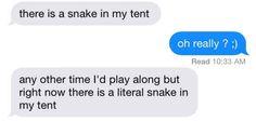 Literal snakes: