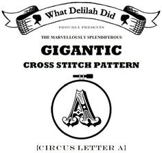 Giant Crossstitch letters!