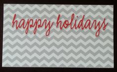 Happy Holidays enclosure cards by kconnerdesigns on Etsy 25 cards for $8