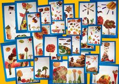 COLLAGE ALIMENTS. Blocartístic. Visual i Plàstica a l'Oriol Martorell » Collage amb aliments All Kids, Art Plastique, Food Art, Gallery Wall, Frame, Fun, Painting, Collages, Primary Teaching