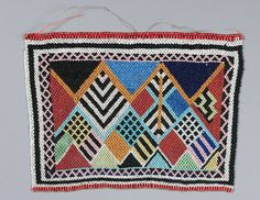 Africa   Woman's apron from the Wandonde (Ndonde) people of Tanzania   19th century   Glass beads and natural fiber