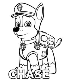 Paw Patrol Chase coloring page. Free coloring pages in . Free Easter Coloring Pages, Frozen Coloring Pages, Monster Coloring Pages, Spring Coloring Pages, Printable Adult Coloring Pages, Cool Coloring Pages, Coloring Pages To Print, Free Coloring, Coloring Sheets