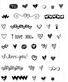 KG Heart Doodles dingbat font | DingbatDepot.com