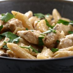 One-pot Creamy Chicken Marsala Pasta Recipe by Tasty