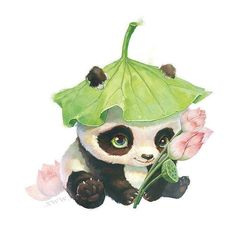 Diamond Embroidery DIY Diamond Painting Cartoon Panda Cross Stitch Handcrafts Home Decor Full Round Diamond Mosaic Art Drawings Sketches, Cute Drawings, Horse Drawings, Drawing Art, Watercolor Animals, Watercolor Art, Image Panda, Cute Panda Drawing, Panda Painting