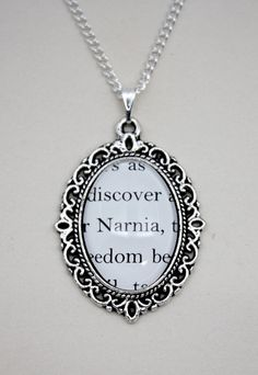 The Lion, the Witch and the Wardrobe 'Narnia' Book Page Necklace. $17.00, via Etsy.