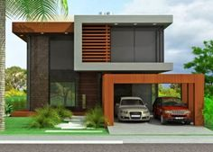 Decor Salteado - Blog de Decoração | Arquitetura | Construção | Paisagismo: Fachadas de casas de sobrados – veja 50 modelos lindos!.