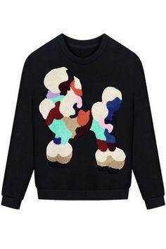 Chic Animal Print Long-Sleeve Sweatshirt