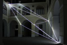 Carlo Bernardini Corporeality of light, 2012 Optic fibers, feet h 47 x 55 x 52. Museo Diocesano, Salerno.