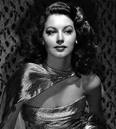 Ava Gardner, 1946. Such a unique and beautiful dress.