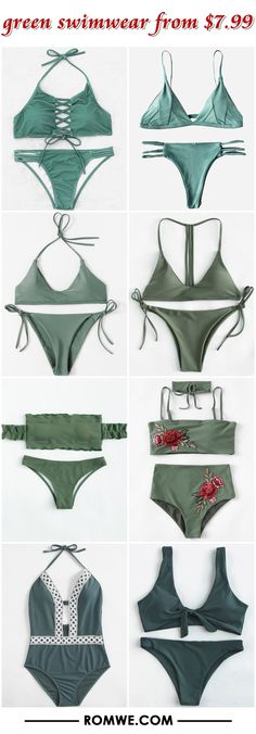 green swimwear from $7.99 - romwe.com