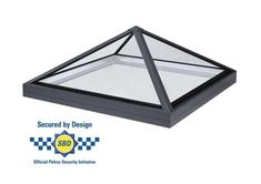 Secured by design pyramid rooflight, frameless, low pitch. Glass to glass roof lantern rooflight and skylights for flat roof applications. Kitchen Ceilings, Low Pitch, Roof Lantern, Roof Light, Glass Roof, Skylight, Lanterns, House, Ideas