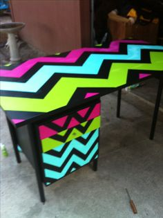 My refurbished teacher desk.....you could do this with duct tape. {image only}