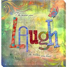Connie Haley 'Laugh' Canvas Giclee Art - Overstock Shopping - Top Rated Canvas