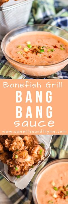 Bang Bang Sauce is sweet spicy creamy and a perfect sauce for seafood meat and vegetables Its such a delicious and easy sauce to drizzle and dip for all kinds of dishes T. Copycat Recipes, Sauce Recipes, Fish Recipes, Seafood Recipes, Asian Recipes, Appetizer Recipes, Dinner Recipes, Cooking Recipes, Ethnic Recipes