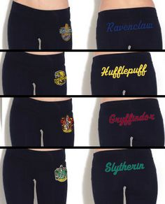 Hogwarts House Yoga Pant by Hanavas $35.00 NEEEEEED