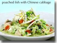 Poached Fish with Napa Cabbage - fast and easy for Phase 1 (without the sesame seeds) and Phase 3.