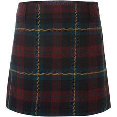 Polo Ralph Lauren Tartan wool mini skirt ($120) ❤ liked on Polyvore featuring skirts, mini skirts, bottoms, faldas, plaid skirts, green, sale, black mini skirt, black skirt and short skirts