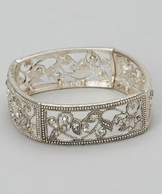 Another great find on #zulily! Silver & Crystal Fergie Stretch Bracelet by LOLO by New Dimensions #zulilyfinds