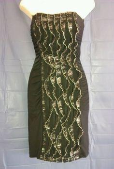 You & Me Women's Size M Black/Silver Sleeveless dress