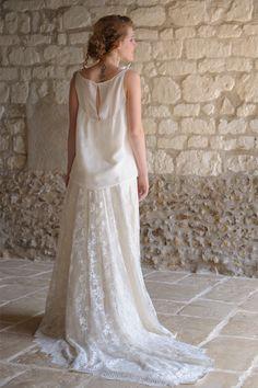 Les robes de mariée de Salomé Gautard - Collection 2016 | Modèle: Top Poésie et Jupe Ada | Crédit: Salomé Gautard | Donne-moi ta main - Blog mariage