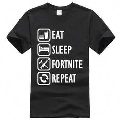 303c57d5e SUMMER Fortnite fashion tee shirt men short sleeve Street wear Boys  clothing Eat Sleep Fortnite Repeat funny t-shirt. MVP Tshirt