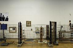 """View of the exhibition """"Voyage(s) en utopie,Jean-Luc Godard 1946-2006, à la recherche d'un théorème perdu.""""  © Jean-Claude Planchet, Centre Pompidou 2006"""