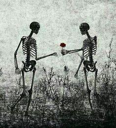 skeleton lovers Art Print by Skeleton Love, Skeleton Art, Arte Obscura, Skull Art, Aesthetic Art, Dark Art, Art Inspo, Fantasy Art, Cool Art