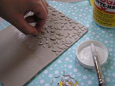 Mel Stampz: boîte de céréales sans couper la main bricolage Cuttlebug ou la pression d'embossage Plaques