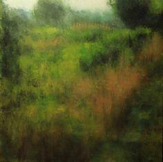 Summer Meadow by Ellen LoCicero Acrylic on Board