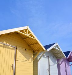 Traditional beach huts on Fleetwood seafront