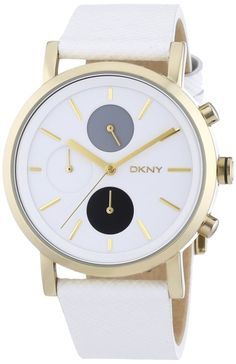 women watches  Watches women best white DKNY Lexington Chronograph White Dial White Saffiano Leather Ladies Watch NY2148