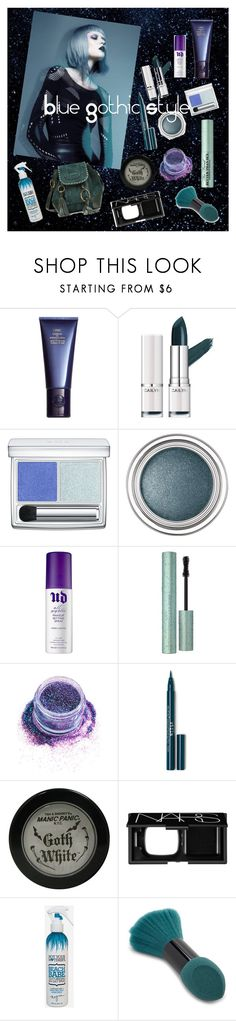 """Blue Gothic"" by roseuniquestyle ❤ liked on Polyvore featuring Space NK, RMK, Christian Dior, Urban Decay, Too Faced Cosmetics, In Your Dreams, Manic Panic NYC, NARS Cosmetics, Not Your Mother's and Forever 21"