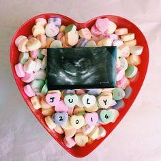Valentine's Day Baby Announcement