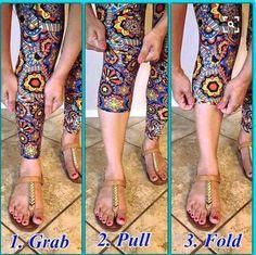 How to wear your LuLaRoe leggings as capris!