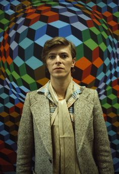 David Bowie photographed in Victor Vasarely's workshop, Annet-sur-Marne, 1977  (Photographs: Christian Simonpietri)