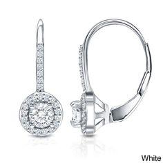 Auriya 14k Gold 3/5ct TDW Diamond Leverback Earrings (H-I, SI1-SI2)