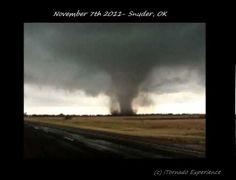 Tornado near Snyder, OK - November 7th 2011