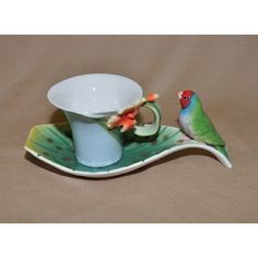 Parrot Decorated Cup & Saucer Winrose http://www.amazon.com/dp/B005SSAQ1W/ref=cm_sw_r_pi_dp_RMlkub1WEFQV1