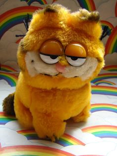 Mini Plush Garfield Doll by SFMissionFinds on Etsy, via Etsy.