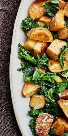 Lemony Roasted Potatoes and Broccoli Rabe