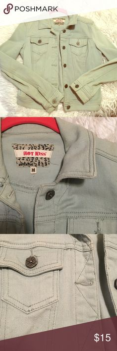 Light blue jean jacket This jacket is so cute! It is a light blue color with metal buttons on it. It comes right to your hips. It is soft for a jean jacket! In great condition. Jackets & Coats Jean Jackets