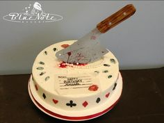 Murder mystery party birthday  cake | Blue Note Bakery - Austin, Texas