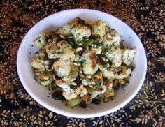 Roasted Cauliflower with Raisins & Pine Nuts