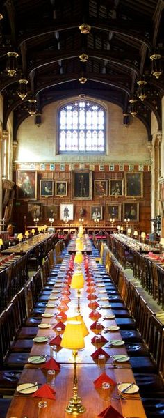 The Dining Hall At Christs Church In Oxford UK I Think Saw Harry Potter