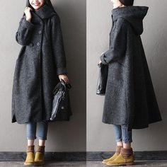 Women Winter Long Woolen Coat