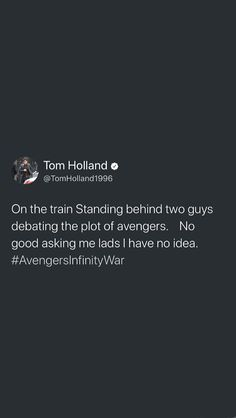 Poor Tom doesn't have his script