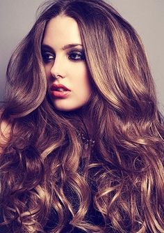 Gorgeous Long Curly Brown Homecoming Hairstyle - Homecoming Hairstyles 2014
